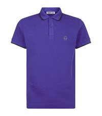 Mcq By Alexander Mcqueen Mcq Alexander Mcqueen Tipped Collar Polo Shirt Male Blue