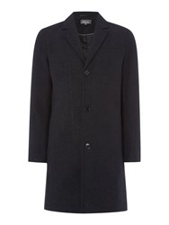 Linea Reliant Casual Button Overcoat Charcoal