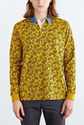 Stussy Simple Paisley Polo Shirt Mustard