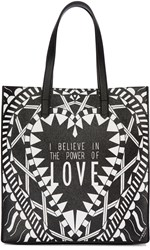 Givenchy Black And White Medium 'Power Of Love' Tote