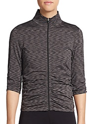 Calvin Klein Space Dyed Ruched Performance Jacket Black Grey