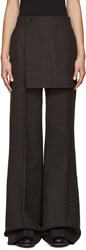 Yang Li Multicolor Wide Leg Apron Trousers