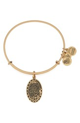 Women's Alex And Ani 'I Love You Daughter' Expandable Wire Bangle Gold
