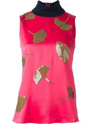 3.1 Phillip Lim Sequin Ginkgo Tank Top Pink And Purple