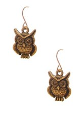 Jami Gold Owl Earrings
