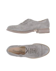 Emanuela Passeri Footwear Lace Up Shoes Women Grey