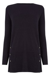 Warehouse Cable Effect Stitch Tunic Navy