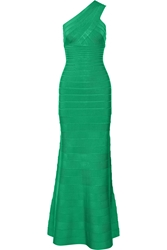 Herve Leger Lilyanna One Shoulder Bandage Gown