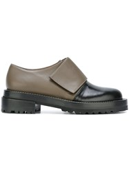 Marni Two Tone Loafers Green
