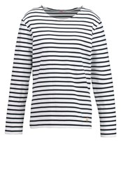 Armor Lux Mariniere Long Sleeved Top Blanc Rich Navy Off White