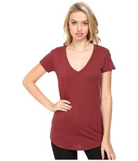 Lamade V Pocket Tee Tissue Jersey Terra Women's Short Sleeve Pullover Brown