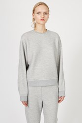Alexander Wang French Terry Crewneck Sweatshirt Light Grey