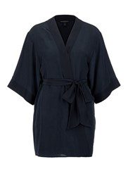 Kiki De Montparnasse 'Perfect' Silk Combo Robe Black