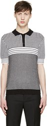 Carven Black And White Knit Polo