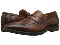Florsheim Heights Penny Slip On Cognac Smooth Men's Slip On Dress Shoes Neutral