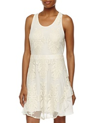 Madison Marcus Crisscross Back Lace Dress Ivory