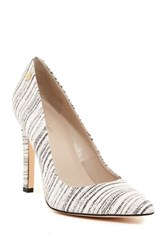 Calvin Klein Brady Striation Pointed Toe Pump Wide Width Available White