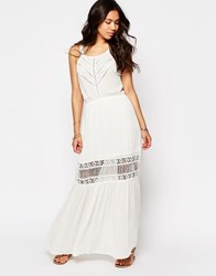 Meghan Fabulous Lilian Lace Maxi Dress White