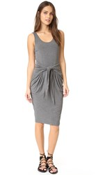 L'agence Ivy Tie Front Dress Medium Heather Grey