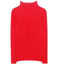 Isabel Marant Zasha Linen And Wool Blend Knitted Sweater Red
