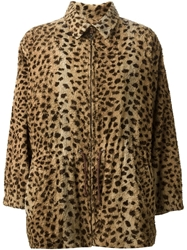 Yves Saint Laurent Vintage Faux Fur Coat Brown