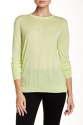 Proenza Schouler Crew Neck Merino Wool Sweater Green