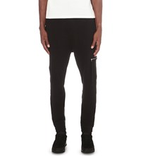 Blood Brother Cargo Cotton Jersey Jogging Bottoms Black