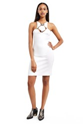 Thierry Mugler Diamond Cut Out Dress White