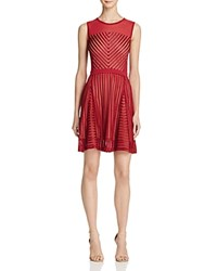 French Connection Fast Score Stripe Dress 100 Bloomingdale's Exclusive Berry Red
