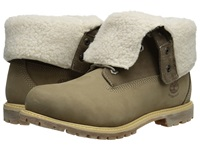 Timberland Authentics Teddy Fleece Fold Down Taupe Women's Lace Up Boots