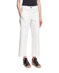 Rag And Bone Rag And Bone Grace Cropped Chino Pants White Women's Size 6