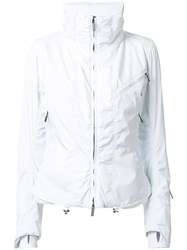 Kru Quilted Zipped Jacket White