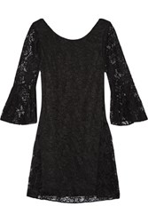 Badgley Mischka Cutout Lace Dress Black