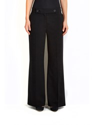 Wallis Black Twill Wide Leg Trousers