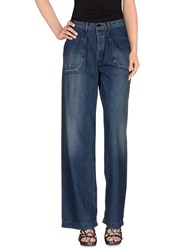 Johnbull Denim Denim Trousers Women Blue