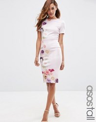 Asos Tall Placed Floral Printed T Shirt Bodycon Dress Multi
