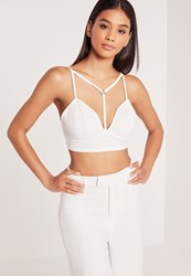 Missguided Harness Structured Bust Bralet White White