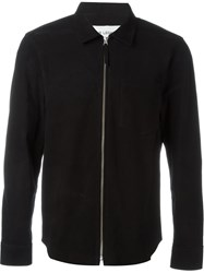 Our Legacy Zipped Suede Shirt Black