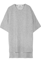 10 Crosby By Derek Lam Paneled Cashmere Tunic Gray