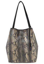 Tom Tailor Denim Mila Tote Bag Black Beige