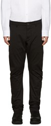 Attachment Black Cotton Trousers