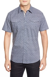 Zagiri 'Key Largo' Modern Fit Short Sleeve Sport Shirt Blue