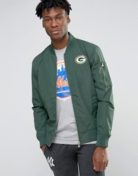New Era Packers Bomber Jacket Green