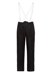 Band Of Outsiders Bi Colour Linen Suspender Trousers
