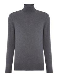 Chester Barrie Merino Roll Neck Grey Marl