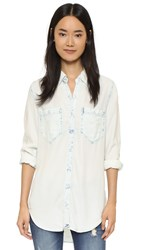 Blank Relaxed Fit Button Down Shirt Joy Ride