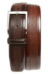 Men's Magnanni 'Wellington' Textured Leather Belt