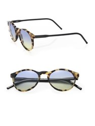 Kyme Miki 48Mm Round Tortoise Sunglasses Brown Blue