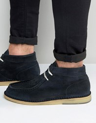 Selected Homme Ronni Suede Boots Blue Navy