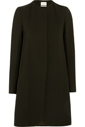Goat Redgrave Wool Crepe Coat Brown